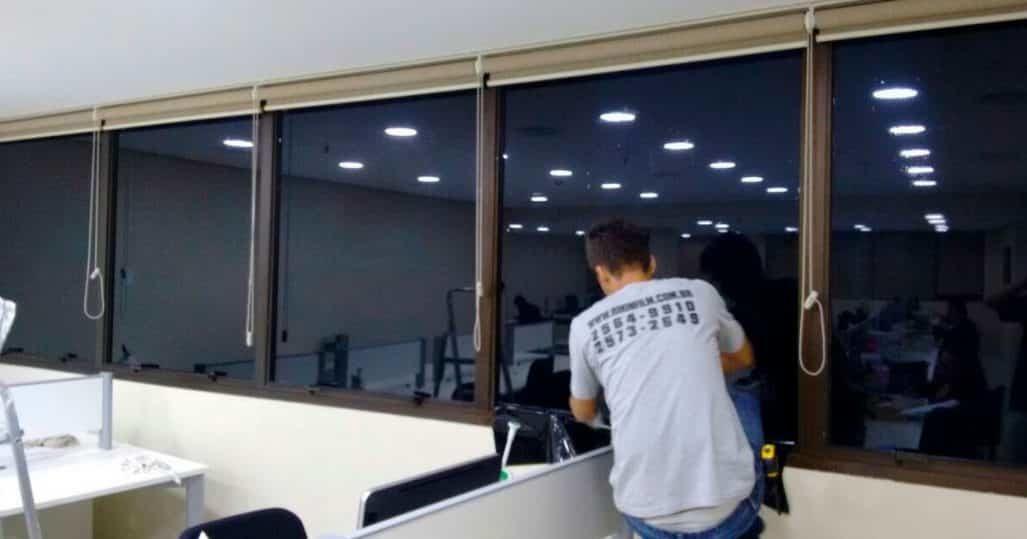 Insulfilm aplicado em um Espaço de Coworking