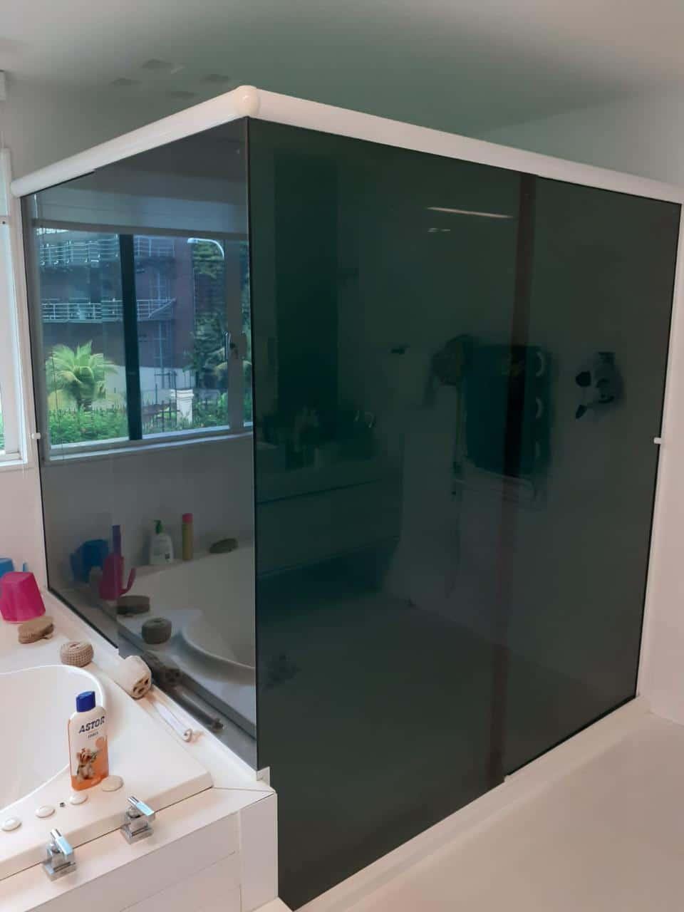 insulfilm box de banheiro - depois do trabalho